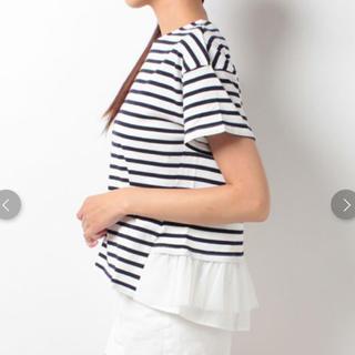アーバンリサーチ(URBAN RESEARCH)のアーバンリサーチ バックフリルTシャツ チュール ボーダー(Tシャツ(半袖/袖なし))