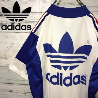 adidas - 【激レア】アディダスオリジナルス☆ビッグロゴ ビッグサイズ ゲームシャツ 90s