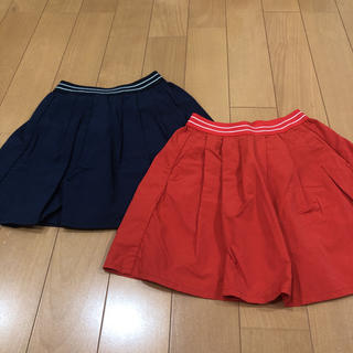 ユニクロ(UNIQLO)のユニクロ ギャザースカート 120サイズ(スカート)