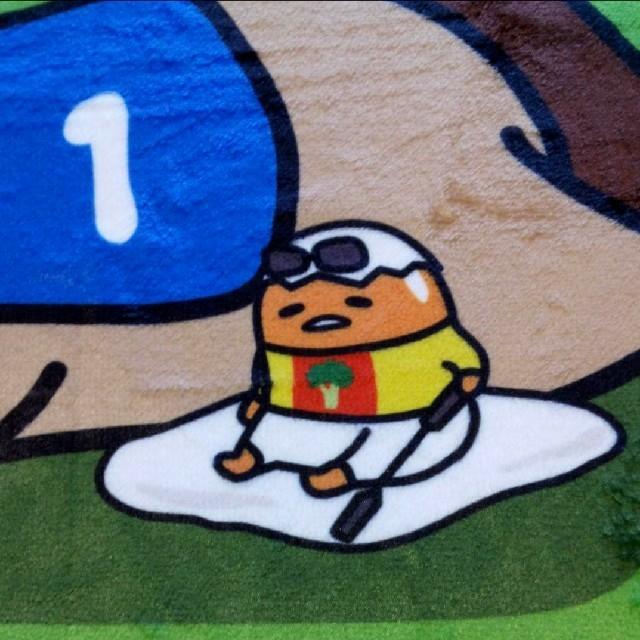 サンリオ(サンリオ)の非売品 新品未使用 JRA ぐでうま コラボ ブランケット エンタメ/ホビーのおもちゃ/ぬいぐるみ(キャラクターグッズ)の商品写真