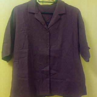 ジーユー(GU)の開襟シャツ えんじ(シャツ/ブラウス(半袖/袖なし))