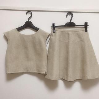 リリーブラウン(Lily Brown)のフレアラメスカート♡ラメトップスセット(セット/コーデ)
