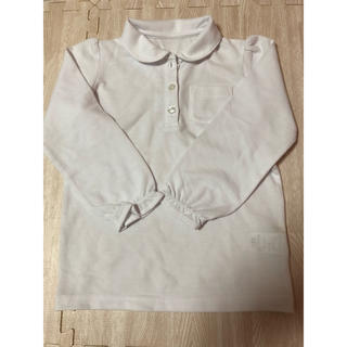 ベルメゾン(ベルメゾン)の未使用 白ポロシャツ 120㎝(Tシャツ/カットソー)