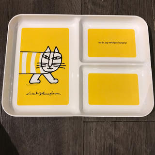 リサラーソン(Lisa Larson)のリサラーソン  ランチプレート イエロー 未使用(プレート/茶碗)