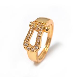 18K金コーティング⭐︎ホースシュー指輪(リング(指輪))