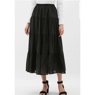 GU - GU ティアード ロングスカート  Lサイズ 新品