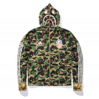 A BATHING APE - adidas  ape  シャーク パーカー shark foodie