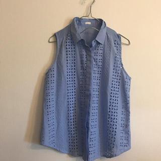 ジーユー(GU)のgu ノースリーブシャツ(シャツ/ブラウス(半袖/袖なし))