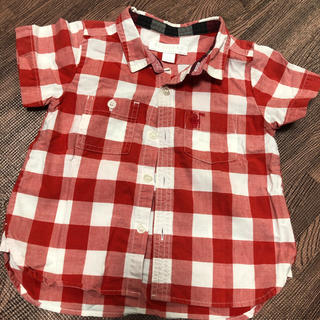 バーバリー(BURBERRY)のバーバリー ベビー キッズ半袖シャツ チェックシャツ(Tシャツ)