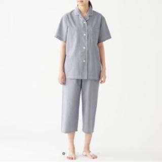 MUJI (無印良品) - 脇に縫い目のない サッカー織り 半袖パジャマ・婦人L