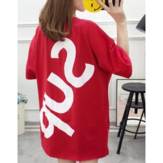 レディースTシャツ Mサイズ 韓国(Tシャツ(半袖/袖なし))