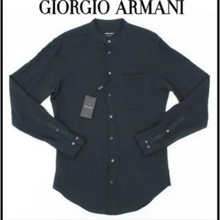 ジョルジオアルマーニ(Giorgio Armani)のGIORGIO ARMANI アルマーニ グリーンシャツ 定価10万新品未使用(シャツ)