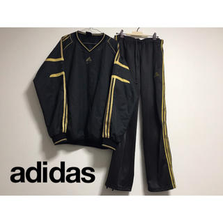 adidas - 90's 古着 adidas オーバーサイズ シャツ ラインパンツ セット