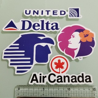航空会社ステッカー 5枚セット(北米)