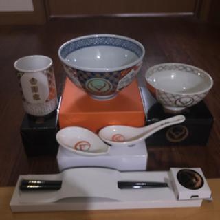 吉野家 どんぶり、茶わん、ゆのみ、お箸、れんげのフルセット(食器)