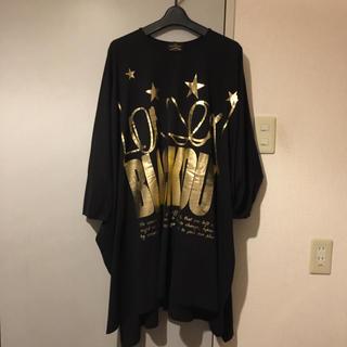 ヴィヴィアンウエストウッド(Vivienne Westwood)のAnglomania BLACKOUT big T-shirt (ひざ丈ワンピース)