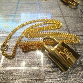 ルイヴィトン(LOUIS VUITTON)のLouis Vuitton ルイヴィトン パドロック 60㎝ネックレス ゴールド(ネックレス)