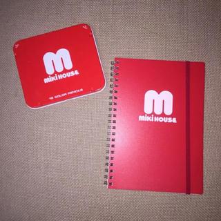 mikihouse - ミキハウス 色鉛筆 ノート