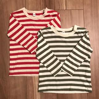 ムジルシリョウヒン(MUJI (無印良品))の無印良品 ボーダー ロンT二枚セット(Tシャツ)