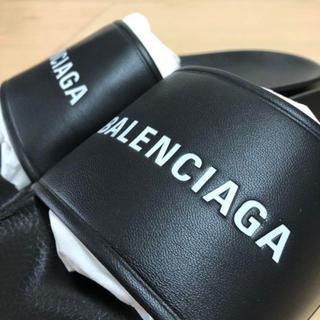 Balenciaga -  BALENCIAGA  Logo Slides 27cmサンダル