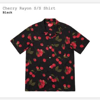Supreme - 【黒M/最安値】Cherry Rayon S/S Shirt