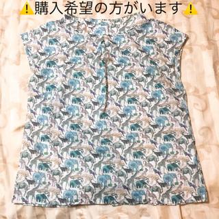 サマンサモスモス(SM2)のSM2で購入☆リバティ柄☆アニマル☆ブラウス☆Mサイズ(シャツ/ブラウス(半袖/袖なし))