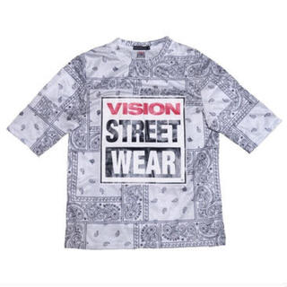 HALFMAN - HALFMAN/VISION(ハーフマン/ヴィジョン) ペイズリー柄Tシャツ
