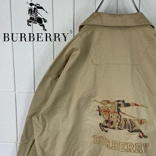 BURBERRY - バーバリー バックロゴ ゆるだぼ 90s プローサム スイングトップ 可愛い