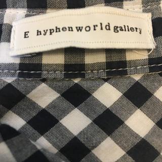 イーハイフンワールドギャラリー(E hyphen world gallery)のイーハイフン🌟チェックシャツ(シャツ/ブラウス(半袖/袖なし))