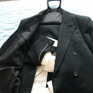 礼服 冠婚葬祭 ブラック スーツ上下 クリーニング済(セットアップ)