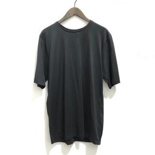 エンフォルド(ENFOLD)の美品ATONエイトン半袖カットソー黒レディース(カットソー(半袖/袖なし))