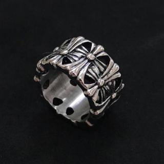 高品質STAINLESS STEEL クロスラウンドリング シルバーリング (リング(指輪))