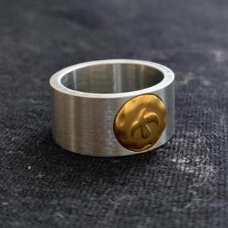 STAINLESS STEEL イーグルコインリング 平打ちリング シルバー(リング(指輪))