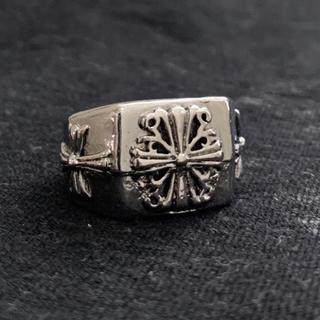 クロスデザインスクエアリング カレッジリング シルバー(リング(指輪))