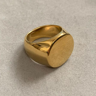 高品質STAINLESS STEEL カレッジリング 丸型 ゴールド(リング(指輪))