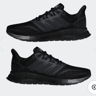 アディダス(adidas)のadidas FALCONRUN W ファルコンラン 23.5cm コアブラック(スニーカー)