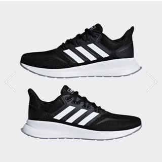 アディダス(adidas)のadidas FALCONRUN W 23cm コアブラック×ホワイト 値下げ!(スニーカー)