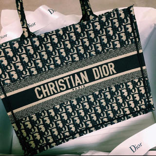 ディオール(Dior)の新品 ブックトート ミニ 定価以下 トート ネイビー(トートバッグ)