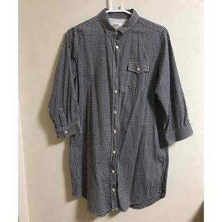 サマンサモスモス(SM2)のギンガムチェックロングシャツ(シャツ/ブラウス(長袖/七分))