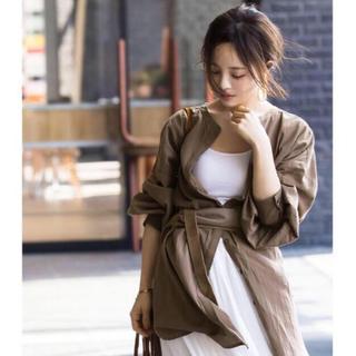 神戸レタス - 美品☆ KOBE LETTUCE  ハイネックガーゼシャツチュニック ブラウン