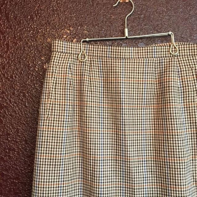 BURBERRY(バーバリー)のBurberry's 千鳥柄 茶系 スカート レトロ バーバリー レディースのスカート(ひざ丈スカート)の商品写真