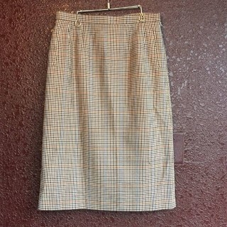 バーバリー(BURBERRY)のBurberry's 千鳥柄 茶系 スカート レトロ バーバリー(ひざ丈スカート)