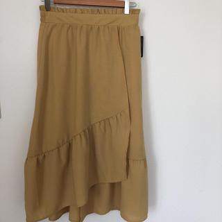 ロングスカート カラシ 黄色 L(ロングスカート)