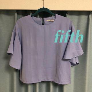 フィフス(fifth)のfifth☆フレア ブラウス サックス ブルー(シャツ/ブラウス(長袖/七分))