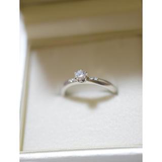 アガット(agete)のagete アガット ブライダル エンゲージリング 婚約指輪 プラチナ(リング(指輪))