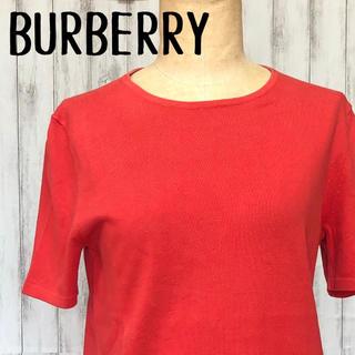 バーバリー(BURBERRY)のBURBERRY 半袖ニット ワンポイント(カットソー(半袖/袖なし))