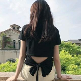 dholic - ~新品 バックリボン オープン トップス ~