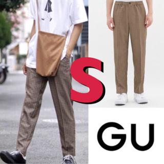 GU - GU チェックパンツ S イージートラウザー (チェック)MC