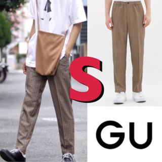 GU - 【未使用!】GU チェックパンツ S イージートラウザー (チェック)MC