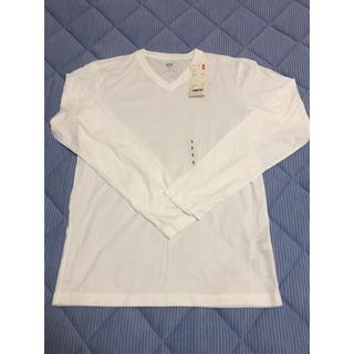 ユニクロ(UNIQLO)の長袖 ユニクロ スーピマコットンVネックT(Tシャツ/カットソー(七分/長袖))